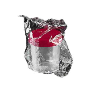 120mL Sterile PP Screw Cap Container {Individually Wrapped} (100/cs)