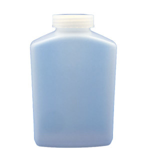 1000ml SMART Natural HDPE  Leakproof Oblong  Bottle, Unassembled w/53-415 Linerless Cap in Box (75/cs)