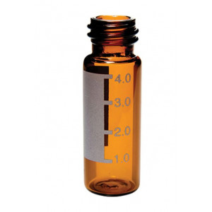 4mL Amber Screw Thread Vial w/Numbered Graduated ID Patch (100/pk)