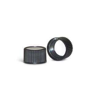 13-425 Black PP PTFE Lined Cap (100/pk)