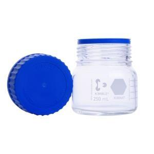 KIMBLE® GLS 80  Bottle, Media 3.3 Borosilicate, WM clear, w/ screw cap & pour ring (PP), 250 mL (4cs)