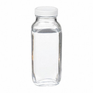 16oz Clear French Square Assembled w/48-400 PTFE Lined Cap (40/cs)