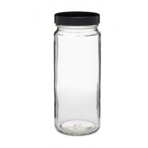 16oz Clear Tall Wide Mouth Paragon Assembled with 63-400 Phenolic Poly Vinyl Lined Cap (12/cs)