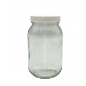 16oz Clear Economy Jar Assembled w/63-400 F-217 Lined Cap (24/cs)