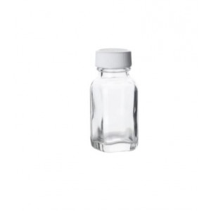 1oz Clear French Square Assembled w/24-400 Poly Vinyl Lined Cap (280/cs)