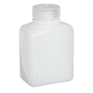 2000mL Rectangular HDPE Bottle, 63-415 PP Screw Thread Closure (12/cs)