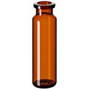 20mL Amber Headspace Vials with Flat Crimp Top (100/pk)