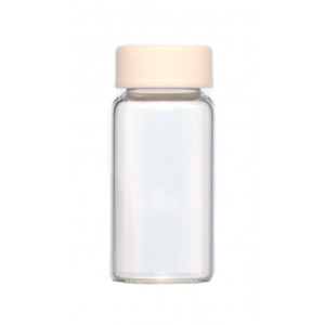 20mL Glass Scintillation Vial, KG-33 Borosilicate glass, w/ 22-400 Foam Lined PP Cap Attached (500/cs)