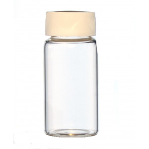 20mL Glass Scintillation Vial Assembled with 22mm Cork-backed Foil Lined Urea Cap (500/cs)
