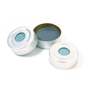 20mm Aluminum Seal w/Teflon/Butyl Septum {Pharma Liner} (100/pk)