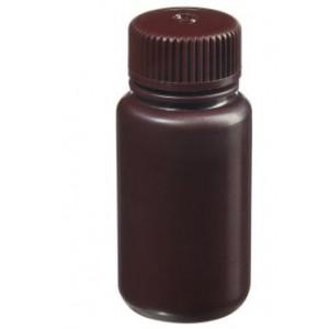 60mL Wide Mouth Amber HDPE Bottle, 28mm Amber PP Screw Thread Closure {Lab Grade} (72/cs)