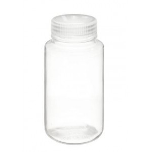 250mL Wide Mouth PMP Bottle, 43-415 PP Screw Thread Closure (24/cs)