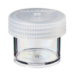 60mL Wide Mouth Polycarbonate Straight Sided Jar, 53mm PP Screw Thread Closure (48/cs)