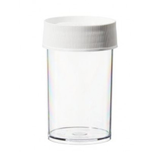 250mL Wide Mouth Polycarbonate Straight Sided Jar, 70mm PP Screw Thread Closure (24/cs)
