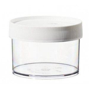 500mL Wide Mouth Polycarbonate Straight Sided Jar, 120mm PP Screw Thread Closure (16/cs)