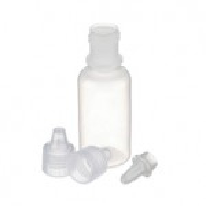 15mL Natural LDPE Dropping Bottle w/Dropper Tip & White PP Cap Packed Seperately (144/cs)