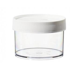 500mL Wide Mouth PPCO Straight Sided Jar, 120mm PP Screw Thread Closure (24/cs)