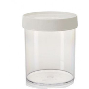 1000mL Wide Mouth PPCO Straight Sided Jar, 120mm PP Screw Thread Closure (24/cs)