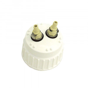"""Ported 83B PP Closure, Quick Disconnect, Inside/Outside Barbed Tubilations, 3 (3/8"""") Ports & TPE Gasket"""