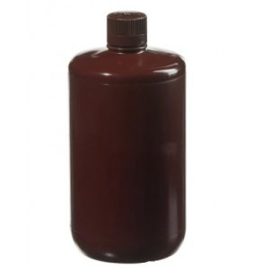 2L Large Narrow Mouth Amber Bottle, 38-430 Amber PP Screw Thread Closure (6/cs)