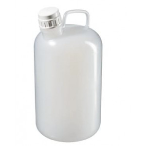 8L Large Narrow Mouth LDPE Bottle, 38-430 PP Screw Thread Closure (6/cs)