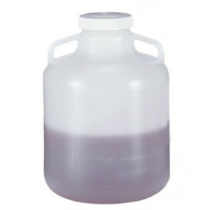 10L Wide Mouth Autoclavable PP Carboy, Handles, 100mm PP Screw Thread Closure (6/cs)