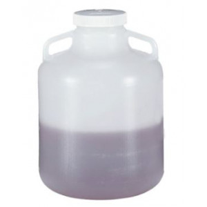 15L Wide Mouth LDPE Carboy, Handles, 100-415 PP Screw Thread Closure (6/cs)