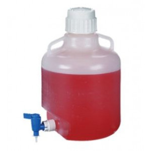10L Round LDPE Carboy, Spigot, 83B Screw Thread Closure (6/cs)
