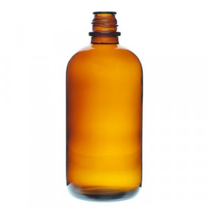 16oz Amber Pour Out Bottle 28-430 (48/cs)