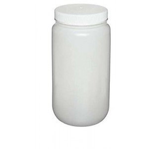 2L Large Wide Mouth HDPE Bottle, 100-415 PP Screw Thread Closure (6/cs)