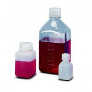 30mL Square Natural PPCO Graduated Bottle, 20-415 PP Screw Thread Closure {Lab Grade} (1000/cs)