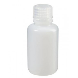 60mL Narrow Mouth Natural HDPE Bottle, 20-415 PP Screw Thread Closure {Packaging Grade} (1000/cs)