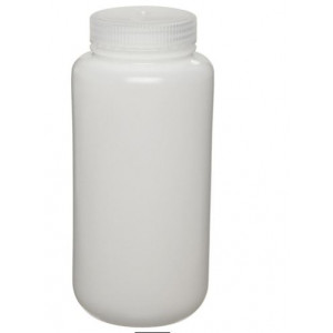 500mL Wide Mouth HDPE Bottle, 53-415 PP Screw Thread Closure {Lab Grade} (125/cs)