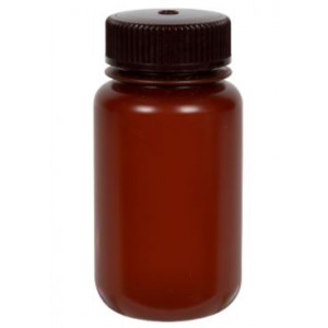 125mL Translucent Amber HDPE Bottle w/38-415 Amber PP Closure (500/cs)