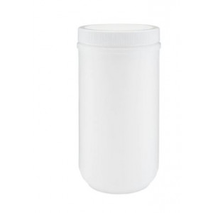 32oz Natural HDPE Straight Sided Jar Assembled w/89-400 F-217 Lined Cap (108/cs)