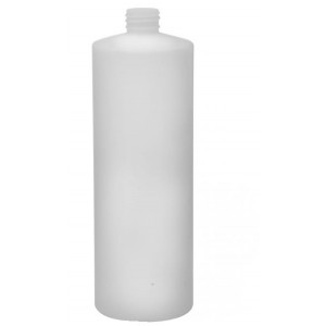 32oz Natural HDPE Cylinder Assembled w/28mm Black Phenolic Poly Cone Lined Cap (152/cs)