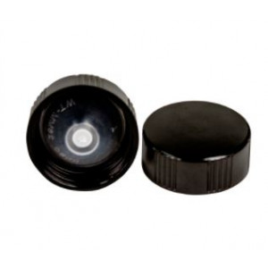 20-400 Black Phenolic Polycone Lined Cap (Each)
