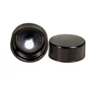 22-400 BLACK PHENOLIC POLY CONE LINED CAP (Each)
