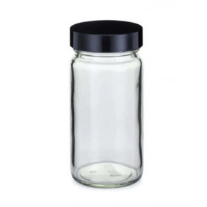4oz Clear Tall Wide Mouth Assembled with 48-400 Phenolic Poly Vinyl Lined  Cap (24/cs)