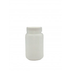 500mL Natural HDPE WM Packer Assembled w/53-400 F-217 Lined Cap, Certified w/Lot & Cont.# Label (100/cs)
