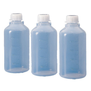 Bottle with Screwcap, Narrow Mouth, LDPE, Graduated, 250mL, 50/Unit