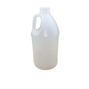 64oz Natural HDPE Bleach Style Jug Assembeld w/38-400 F-217 Lined Cap, Certified (40/cs)