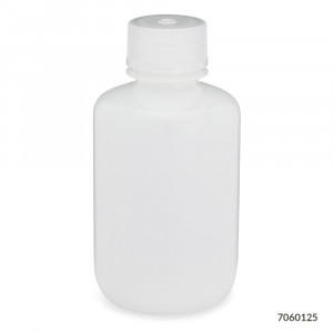 125ml  Narrow Mouth Bottle, HDPE w/ PP 24-415 Closure, 125mL, Bulk Packed, w/ Bottles & Caps Bagged Separately 500/Case