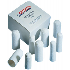25 x 80mm Single Wall Cellulose Extraction Thimble (25/pk)