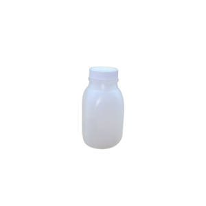 8oz Natural HDPE Juice Style Bottle Assembled w/38-400 F-217 Lined Cap, Certified (500/cs)