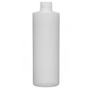 8oz Natural HDPE Cylinder Assembled w/24-410 F-217 Lined Cap, Certified (351/cs)