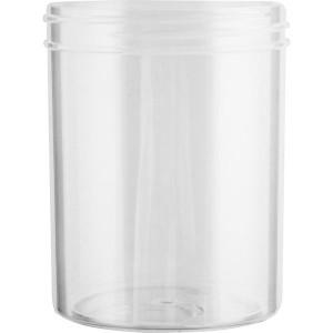 8oz Natural PP Straight Sided Jar Assembled w/70-400 F-217 Lined Cap (336/cs)