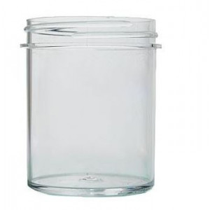 8oz Polystyrene Straight Sided Jar Assembled w/70-400 PP F-217 Lined Cap (150/cs)