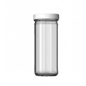 8oz Tall Clear Jar Assembled with 58-400 Septa Cap, Certified (24/cs)