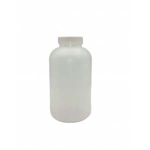 950mL HDPE Wide Mouth Round Assembled w/ 53-400 PP F-217 Cap (130/cs)
